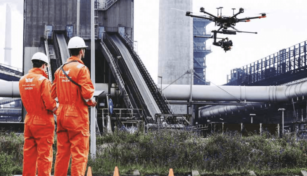Industrial plant drone inspection